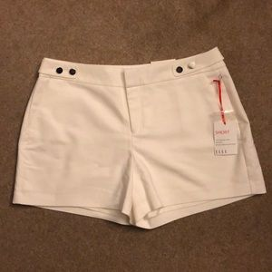 Elle White Shorts